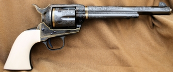 Engraved Colt Single Action Army SAA, by Les Schowe Right Side