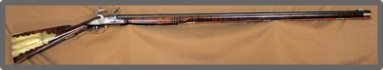 Flintlock Rifle, Kentucky / Pensnsylvania Rifle, 54 cal, Engraved, Carved, For Sale,  by Les Schowe