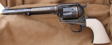 Engraved Colt Single Action Army SAA, by Les Schowe Left Side