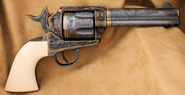 Engraved USFA, Colt Single Action Army Revolver, .45 Colt,  by Les Schowe